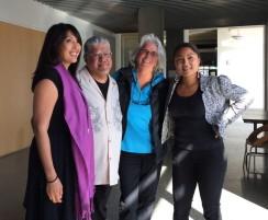 M. Evelina Galang, Luis Rodriguez, Deb Busman, Aimee Suzara